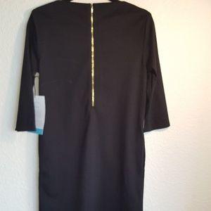 NWT CUYANA BLACK DRESS 3/4 inch Sleeve SZ Medium